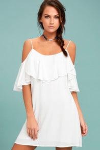 Sweet Treat White Off-the-Shoulder Dress at Lulus.com!