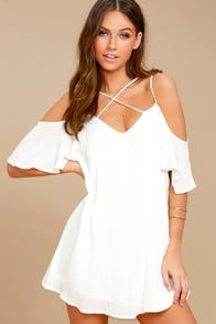 Afterglow White Shift Dress at Lulus.com!