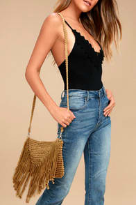 Macrame Baby Tan Crossbody Purse at Lulus.com!