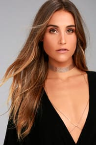 HOLD ME GOLD LAYERED CHOKER NECKLACE at Lulus.com!