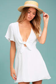 Lulus Sea Day White Skater Dress at Lulus.com!