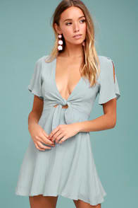 Sea Day Light Blue Skater Dress at Lulus.com!