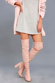 Krush Pink Suede Over-the-Knee Boots at Lulus.com!