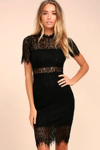 Remarkable Black Lace Dress at Lulus.com!