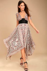 FREE PEOPLE YOU FOR ME CREAM PRINT MAXI DRESS at Lulus.com!