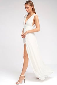 Heavenly Hues White Maxi Dress at Lulus.com!