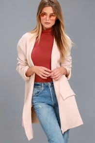 KEEP ME WARM BLUSH PINK KNIT CARDIGAN at Lulus.com!