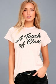 A Touch of Class Light Pink Tee at Lulus.com!