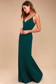 INFINITE GLORY FOREST GREEN MAXI DRESS at Lulus.com!