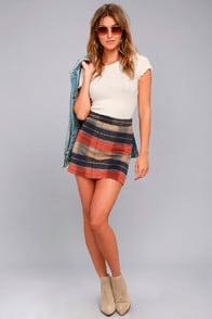 Mad for Plaid Beige Plaid Mini Skirt at Lulus.com!
