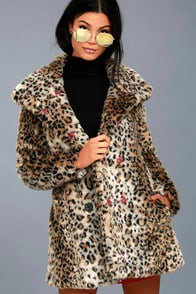 Chloe Leopard Print Faux Fur Coat at Lulus.com!