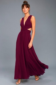 Vivid Imagination Plum Purple Cutout Maxi Dress at Lulus.com!