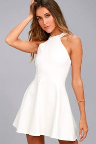 Hometown Girl White Lace Skater Dress at Lulus.com!