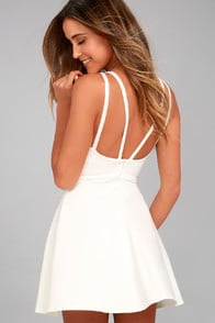 Love Galore White Skater Dress at Lulus.com!