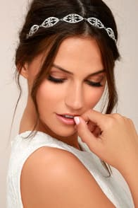 Breathtaking Grey and Silver Rhinestone Headband at Lulus.com!