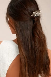 Peak of Perfection Gold Rhinestone Hair Comb at Lulus.com!
