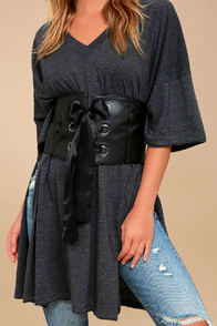 LA MIGNONNE BLACK LACE-UP WAIST BELT at Lulus.com!