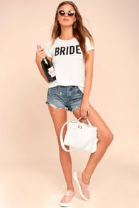 Bride to Be White Tee at Lulus.com!