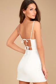 Sweetest Day White Mini Dress at Lulus.com!
