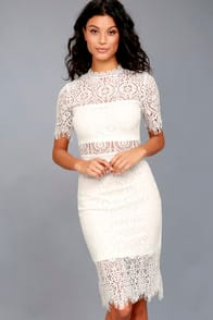 Remarkable White Lace Dress at Lulus.com!