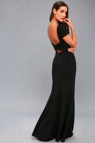 ENDLESS LOVE BLACK BACKLESS MAXI DRESS at Lulus.com!
