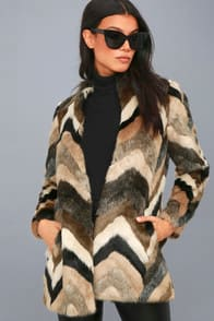 Waylon Multi Faux Fur Coat at Lulus.com!