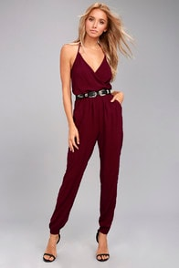 LEARNING TO FLY BURGUNDY JUMPSUIT at Lulus.com!