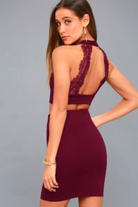 CHIC MY INTEREST BURGUNDY LACE TWO-PIECE DRESS at Lulus.com!