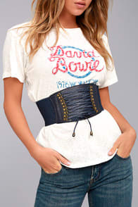 HOLD ME FOREVER NAVY BLUE LACE-UP WAIST BELT at Lulus.com!