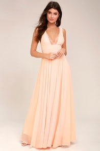 TRUE BLISS PEACH MAXI DRESS at Lulus.com!