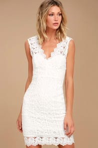 Spread Your Wings White Lace Midi Dress at Lulus.com!