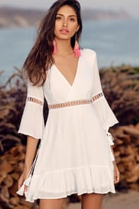 Love Letters White Skater Dress at Lulus.com!