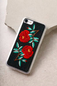Zero Gravity Ojai Black Embroidered iPhone 7 Case at Lulus.com!