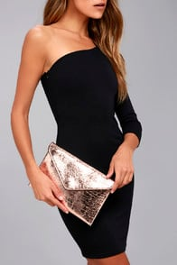 MEDAL OF HONOR ROSE GOLD CLUTCH at Lulus.com!
