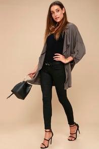 MICA BLACK SKINNY JEANS at Lulus.com!