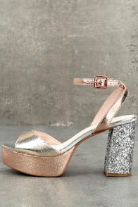 Chinese Laundry Tayla Rose Gold Leather Platform Heels at Lulus.com!