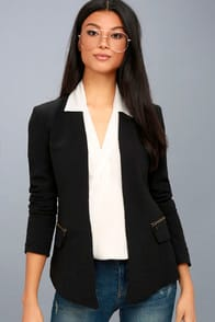 Avant Garde Black Cropped Blazer at Lulus.com!