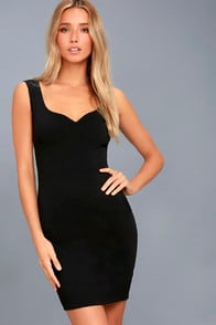 COUNT ON IT BLACK SLEEVELESS BODYCON DRESS at Lulus.com!