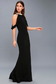 GRAND ENTRANCE BLACK PEARL MAXI DRESS at Lulus.com!