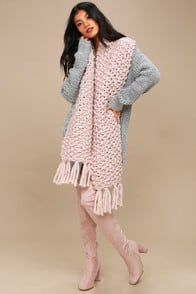 All for Love Blush Pink Knit Scarf at Lulus.com!