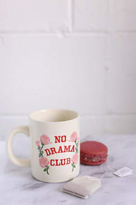 Hot Stuff No Drama Club Ivory Rose Print Ceramic Mug at Lulus.com!