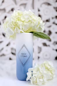 NICE STEMS WHITE AND BLUE OMBRE VASE at Lulus.com!
