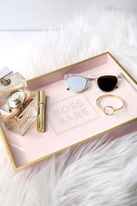 Boss Babe Gold and Blush Pink Lacquered Tray at Lulus.com!