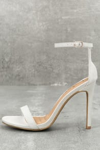 LOVELINESS GREY SUEDE ANKLE STRAP HEELS at Lulus.com!