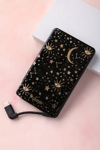 COSMIC BLACK STAR PRINT PICK ME UP PORTABLE CHARGER at Lulus.com!