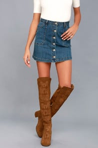 Chenoa Tan Suede Leather Embroidered Over the Knee Boots at Lulus.com!