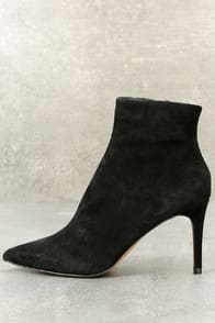Logic Black Suede Leather Ankle Booties at Lulus.com!