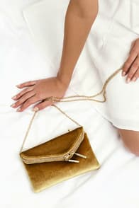 Sweet Belle Golden Yellow Velvet Clutch at Lulus.com!