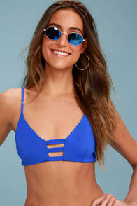 ST. JAMES ROYAL BLUE STRAPPY BIKINI TOP at Lulus.com!