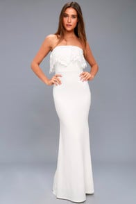 BIRDY WHITE LACE MAXI DRESS at Lulus.com!